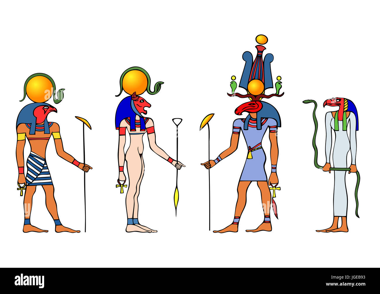Gods of Ancient Egypt - Stock Image