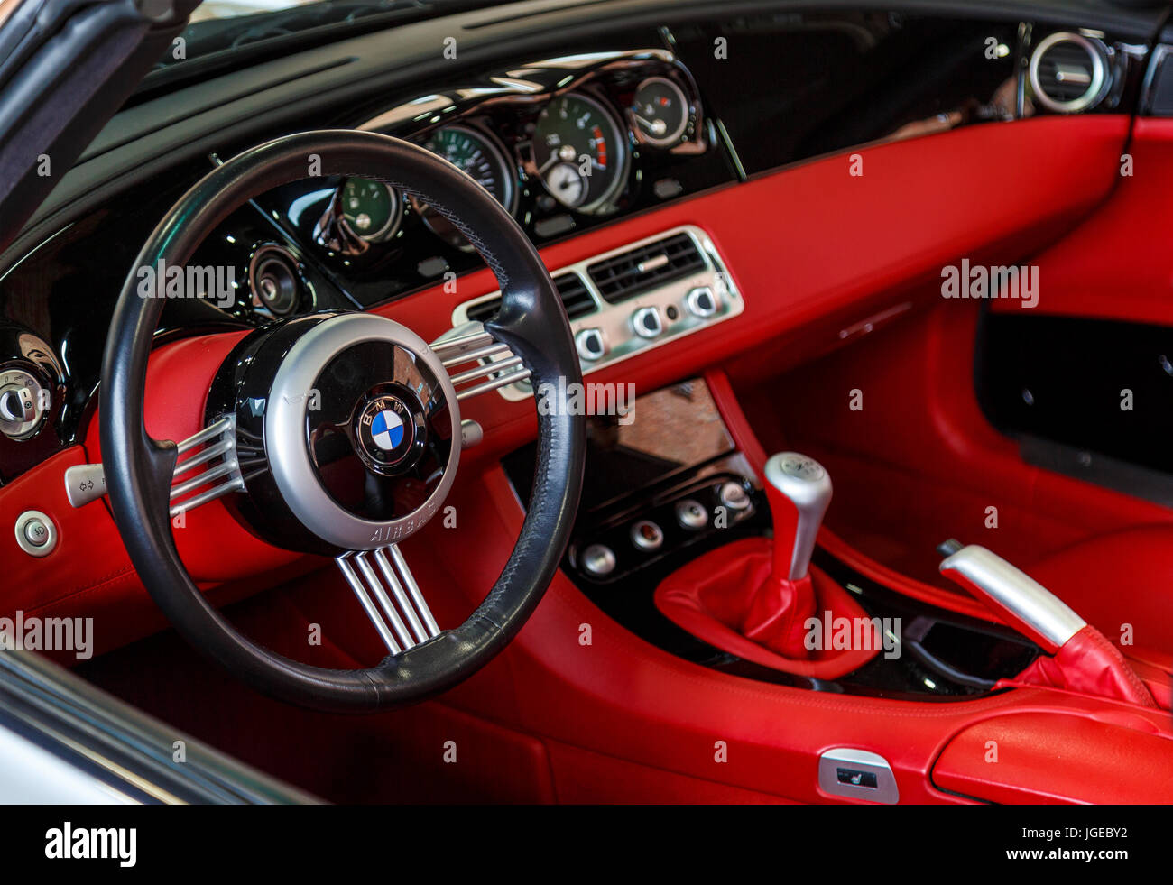 Bmw Z8 Retro Roadster Styling Black And Red Interior At