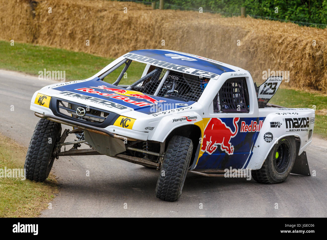 2017 rumbul mazda b2000 stadium truck with driver mad mike stock