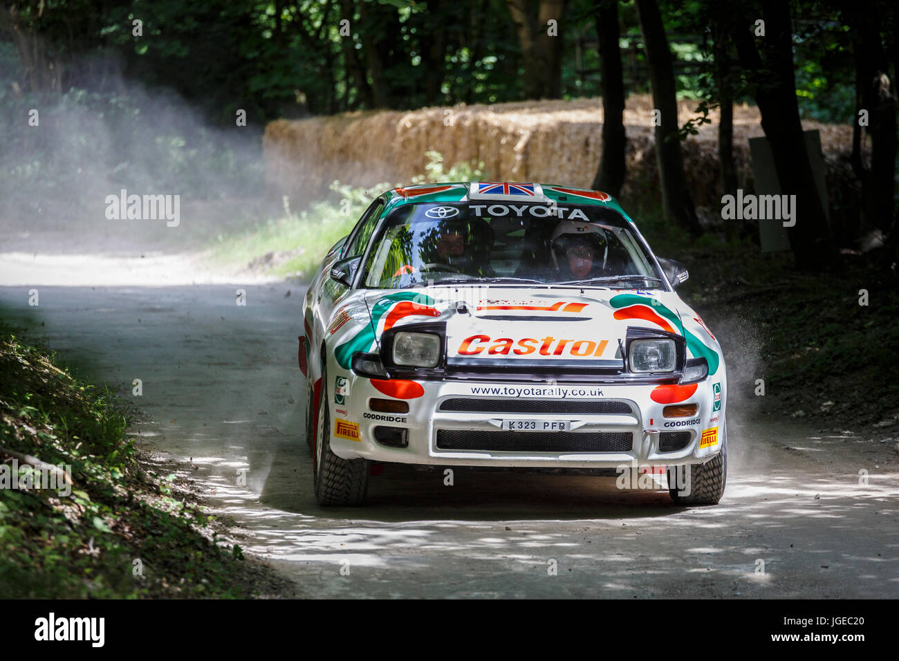1992 Toyota Celica GT-Four ST185 rally car with driver Gary Le ...