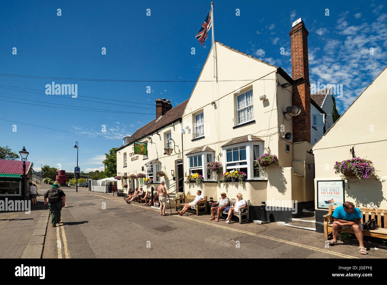The Crooked Billet pub Leigh on Sea. - Stock Image