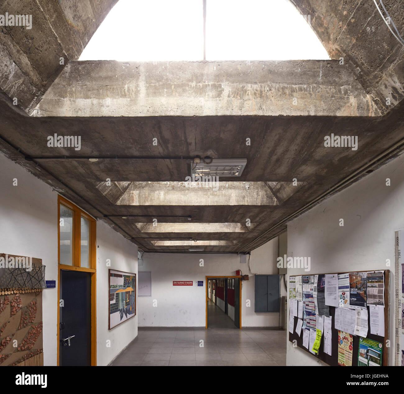 Corridor Chandigarh College Of Architecture Chandigarh India Stock Photo Alamy