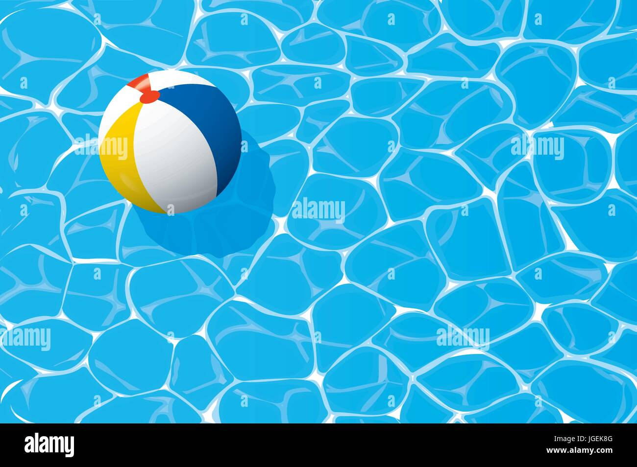 swimming pool beach ball background. Beach Ball Floating In A Blue Swimming Pool. Summer Background. Pool Background L
