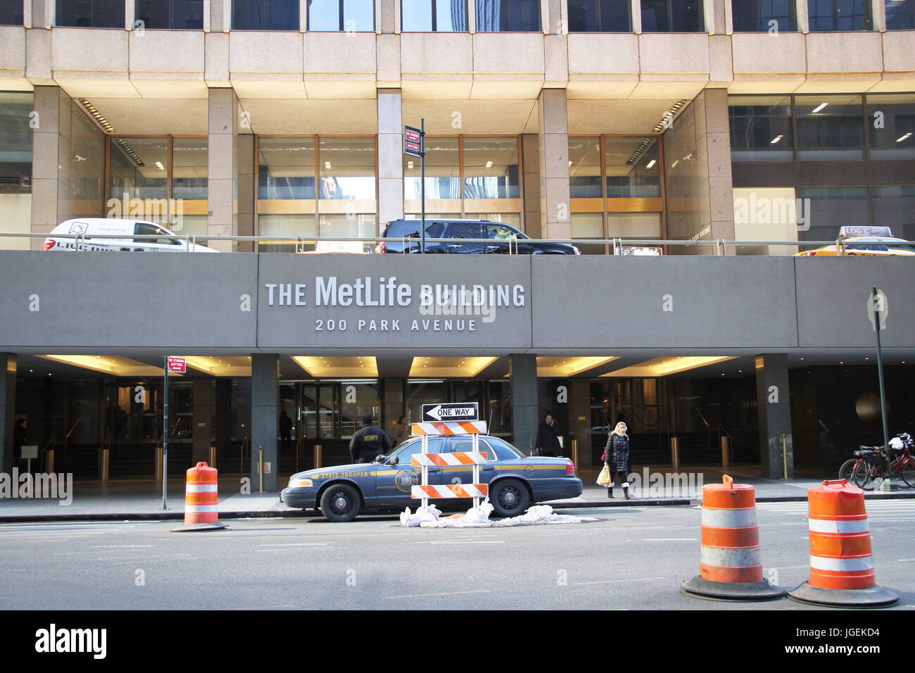 The Metlife Building,  Times Square, New York, United States - Stock Image