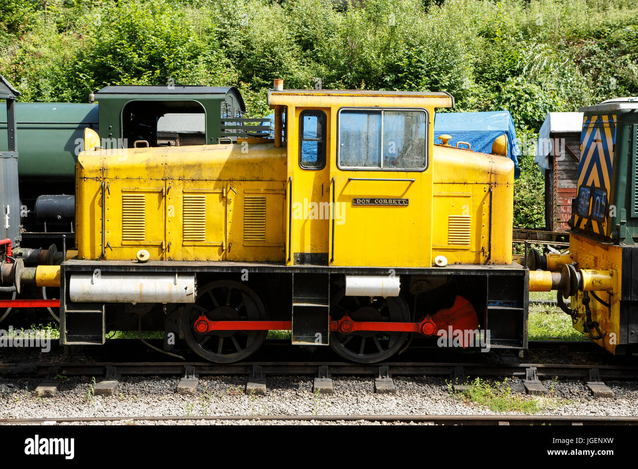 Hunslet 0-4-0 Diesel Shunter, No. 5622 'Don Corbett', Dean Forest Railway, Forest of Dean, Gloucestershire - Stock Image
