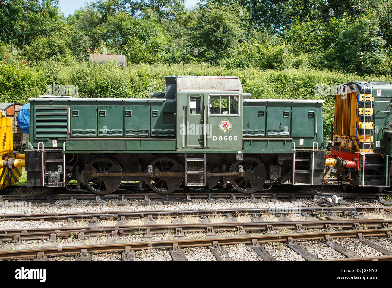 BR 0-6-0 Class 14 diesel shunter, No. D9555, Dean Forest Railway, Forest of Dean, Gloucestershire - Stock Image