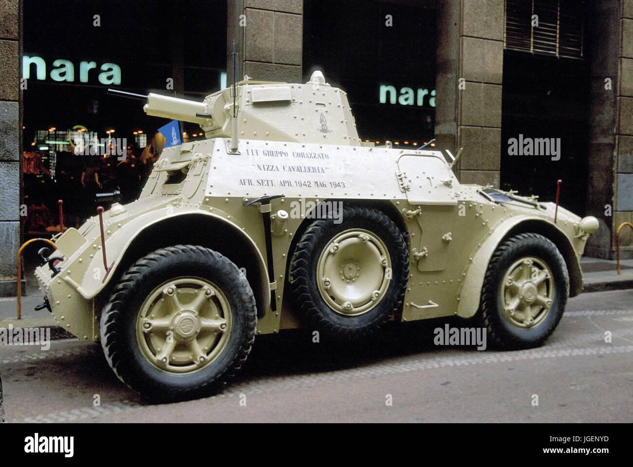 Italian Army Fiat Ansaldo AB41 Armored Car Of World War II