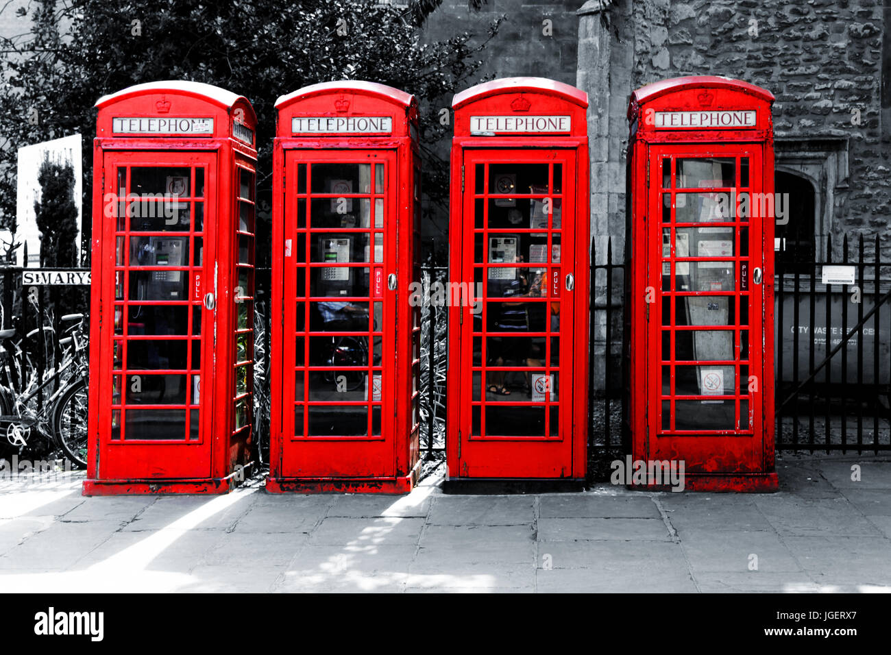 London Call box, British red telephone box, - Stock Image