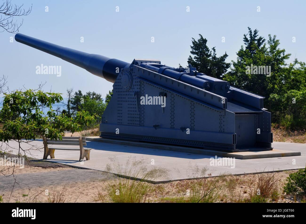 16 Inch Gun - A Coastal Defense Giant - Stock Image
