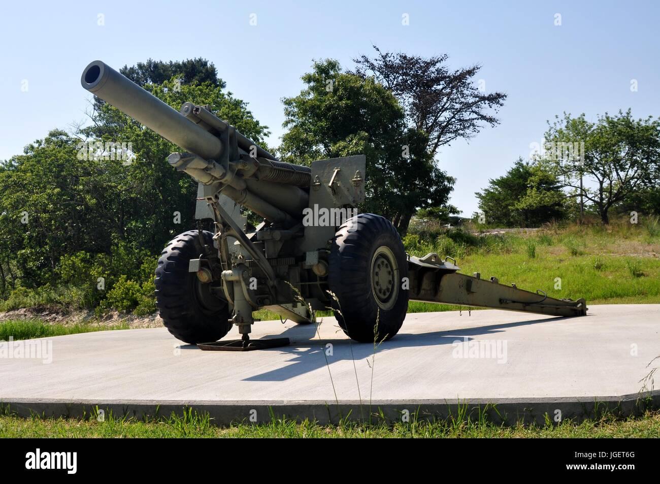 155 MM Gun - Stock Image