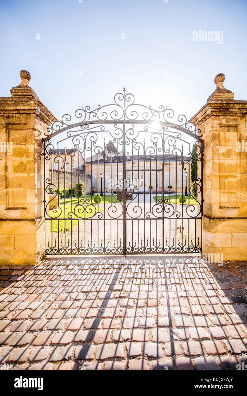 Beautiful french gates Stock Photo