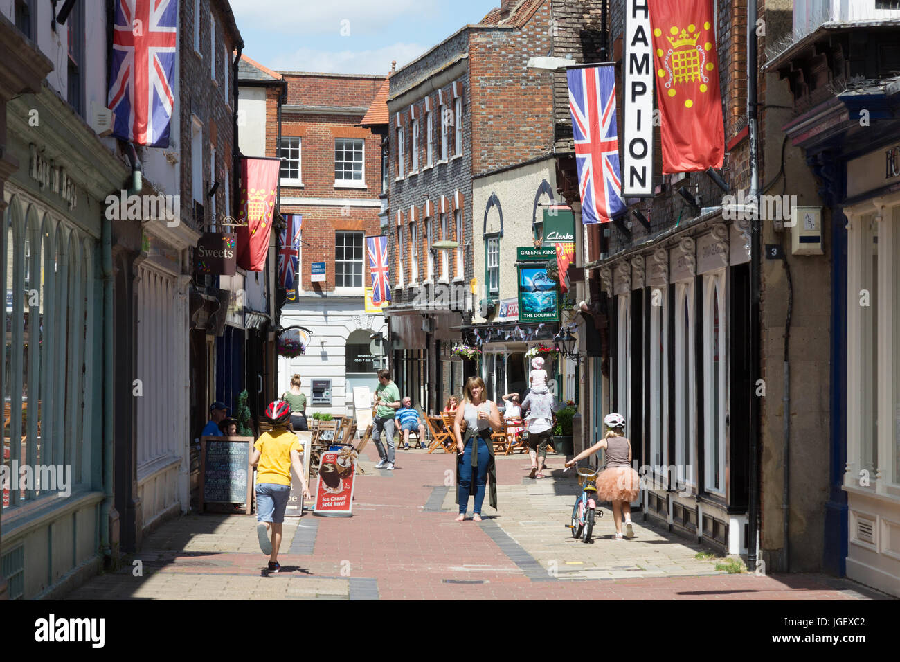Wallingford town centre, Wallingford, Oxfordshire UK - Stock Image