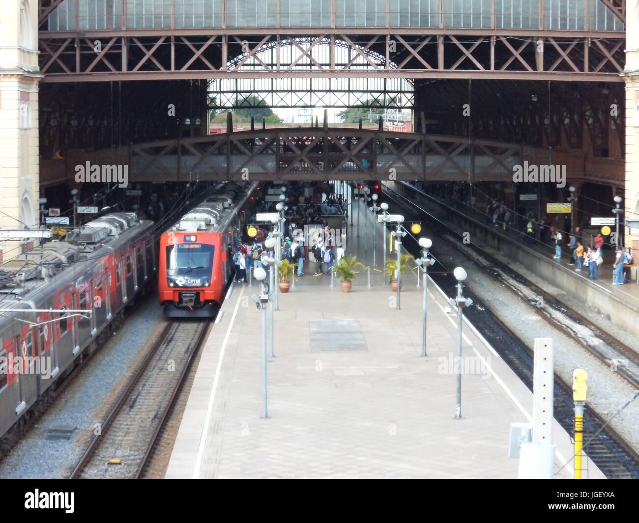 Luz Station, 2011 Capital Center, São Paulo, Brazil. Stock Photo