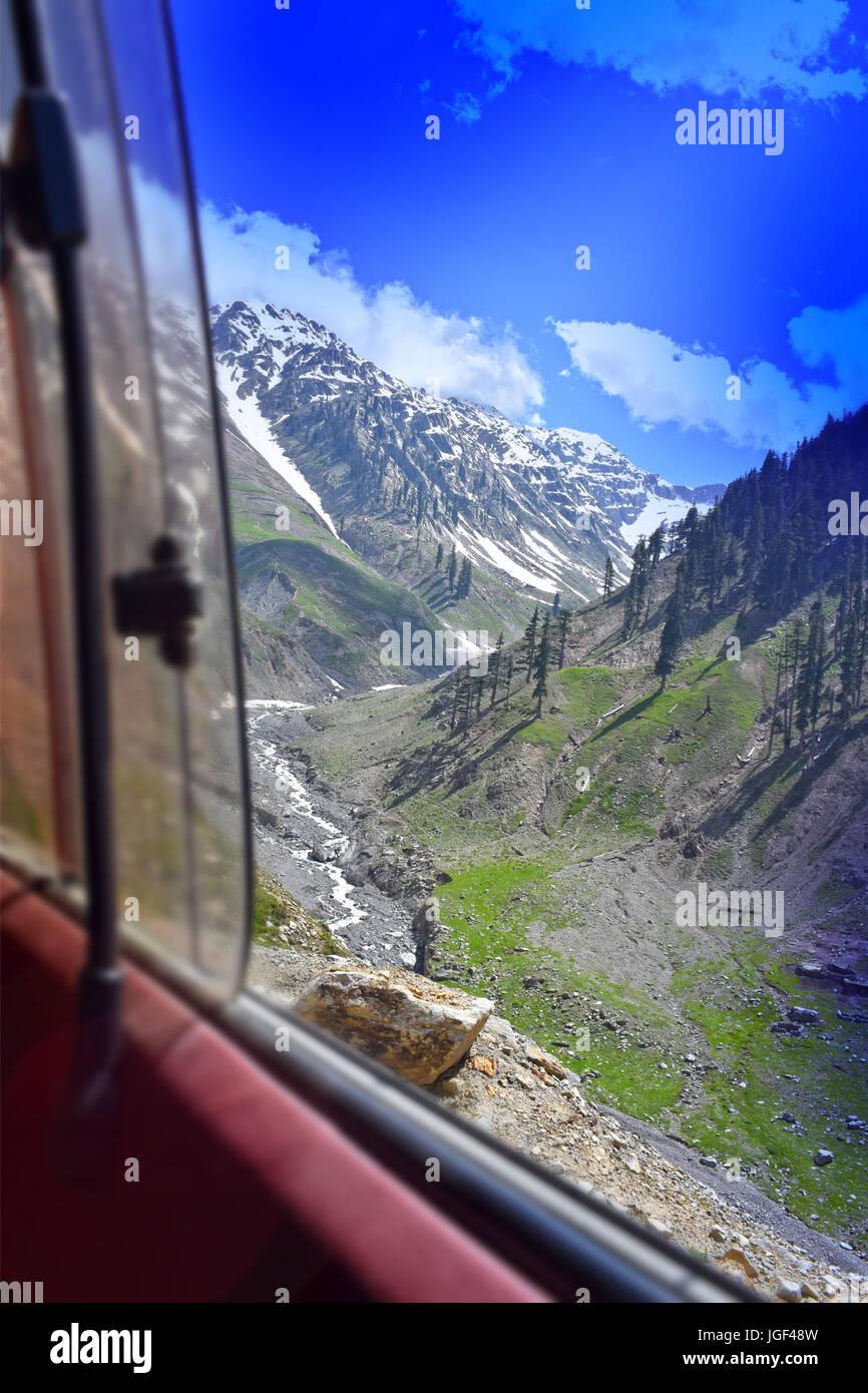 Lowari top chitral Pakistan - Stock Image