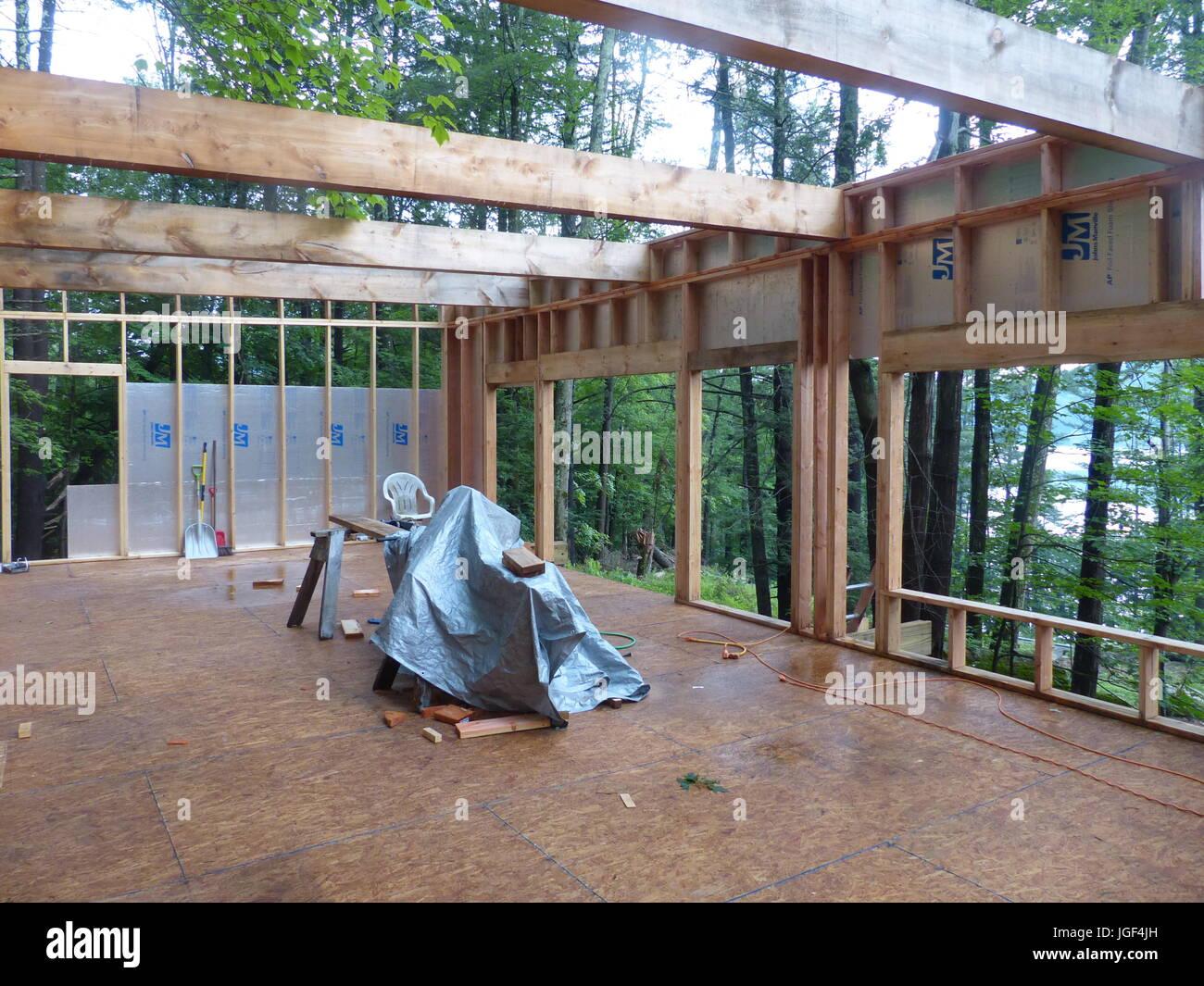 New home construction, Woodstock, NY, USA - Stock Image