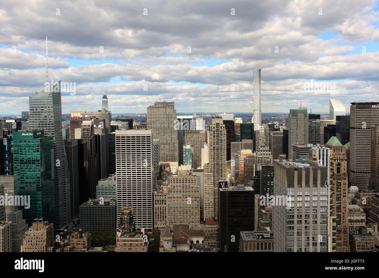 Manhattan through the Empire State Building - Stock Image