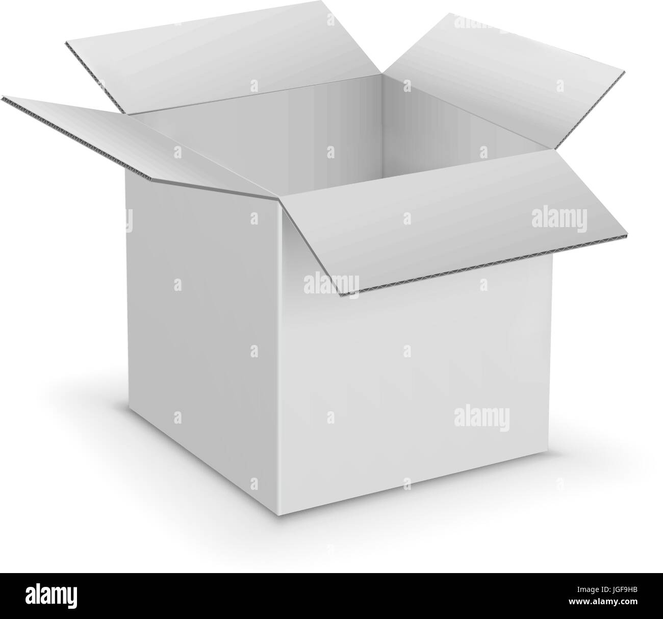 white cardboard boxes template stock vector art illustration