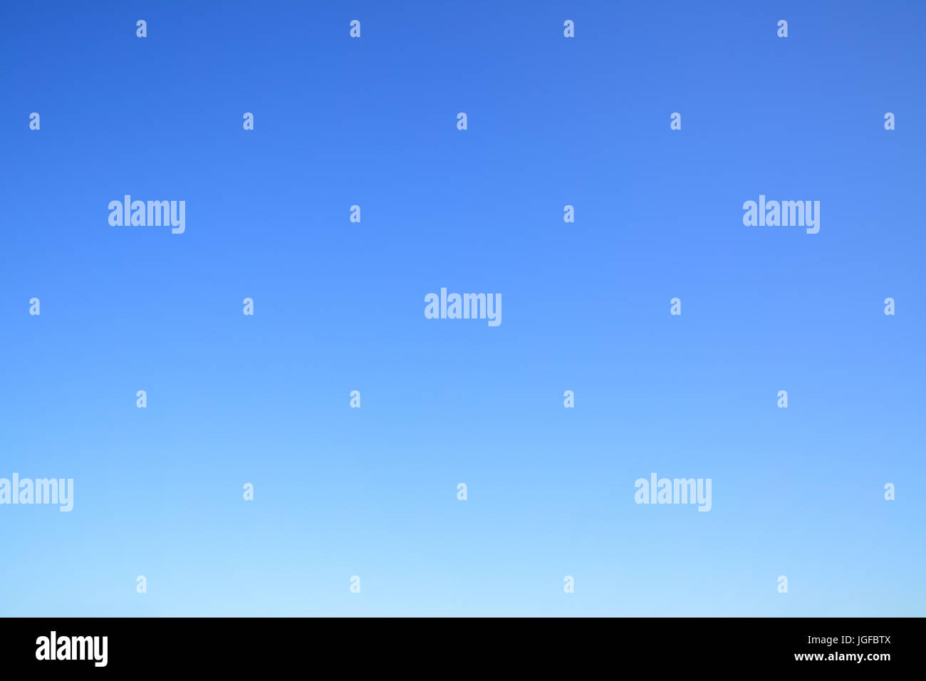 Clear cloudless blue sky - abstract photo background - Stock Image