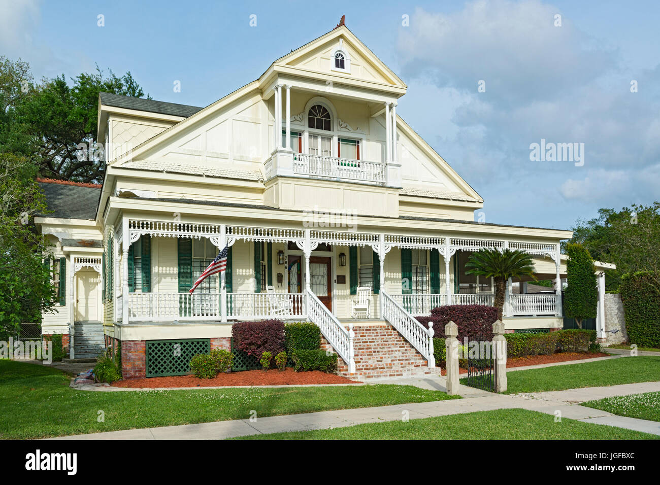 Louisiana, St. Mary Parish, Morgan City, Historic District, 'Adele' 706 First St., private residence, built - Stock Image