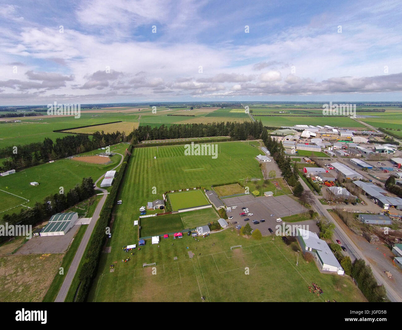 Sports Fields Methven Mid Canterbury South Island New Zealand