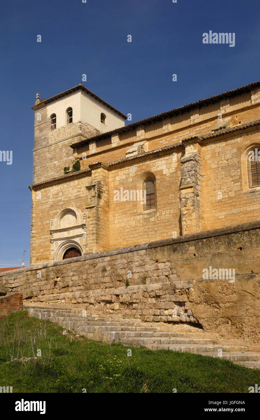 Santa Maria del Castillo, Church, Fromista, Palencia, Spain, Romanesque church - Stock Image