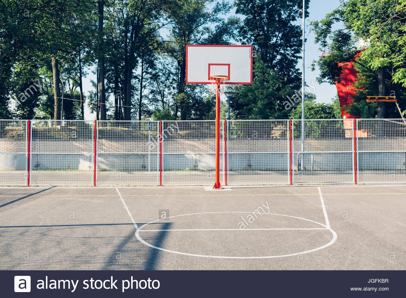 Outdoor basketball court - Stock Image