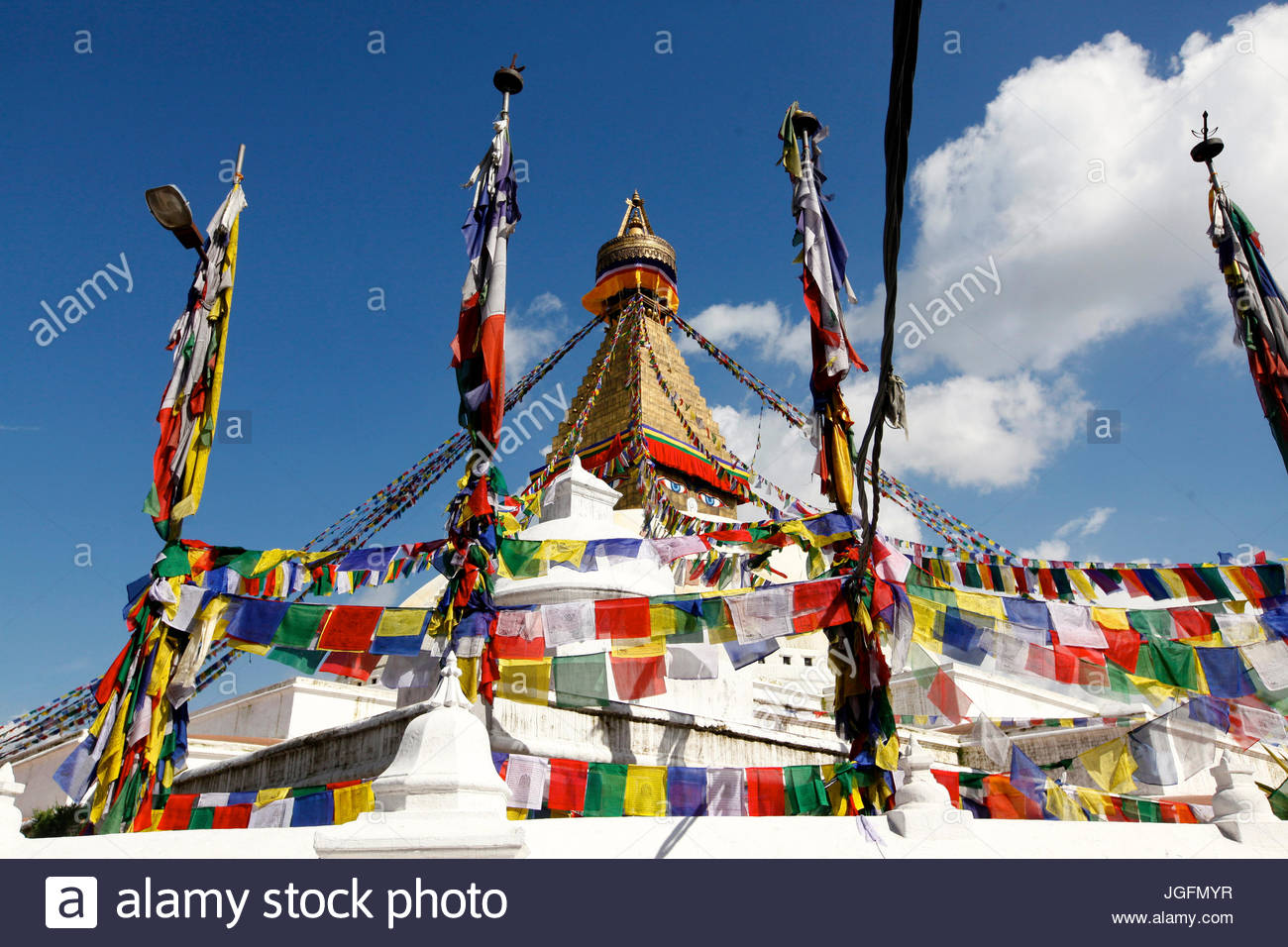 Boudhanath Stupa, the largest stupa in Nepal. - Stock Image