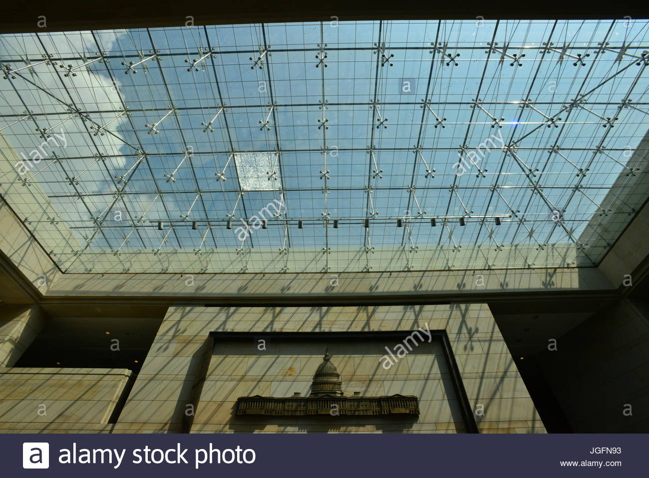 A skylight in the U.S. Capitol Building. - Stock Image