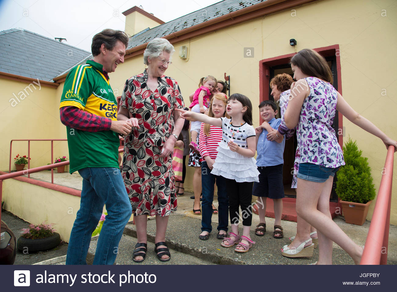 An author meets the McCarthy clan, his extended family, in the town of Lacca West. - Stock Image