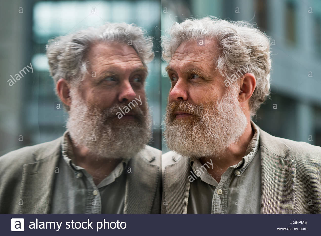 The initiator of The Human Genome Project, Dr. George Church. - Stock Image