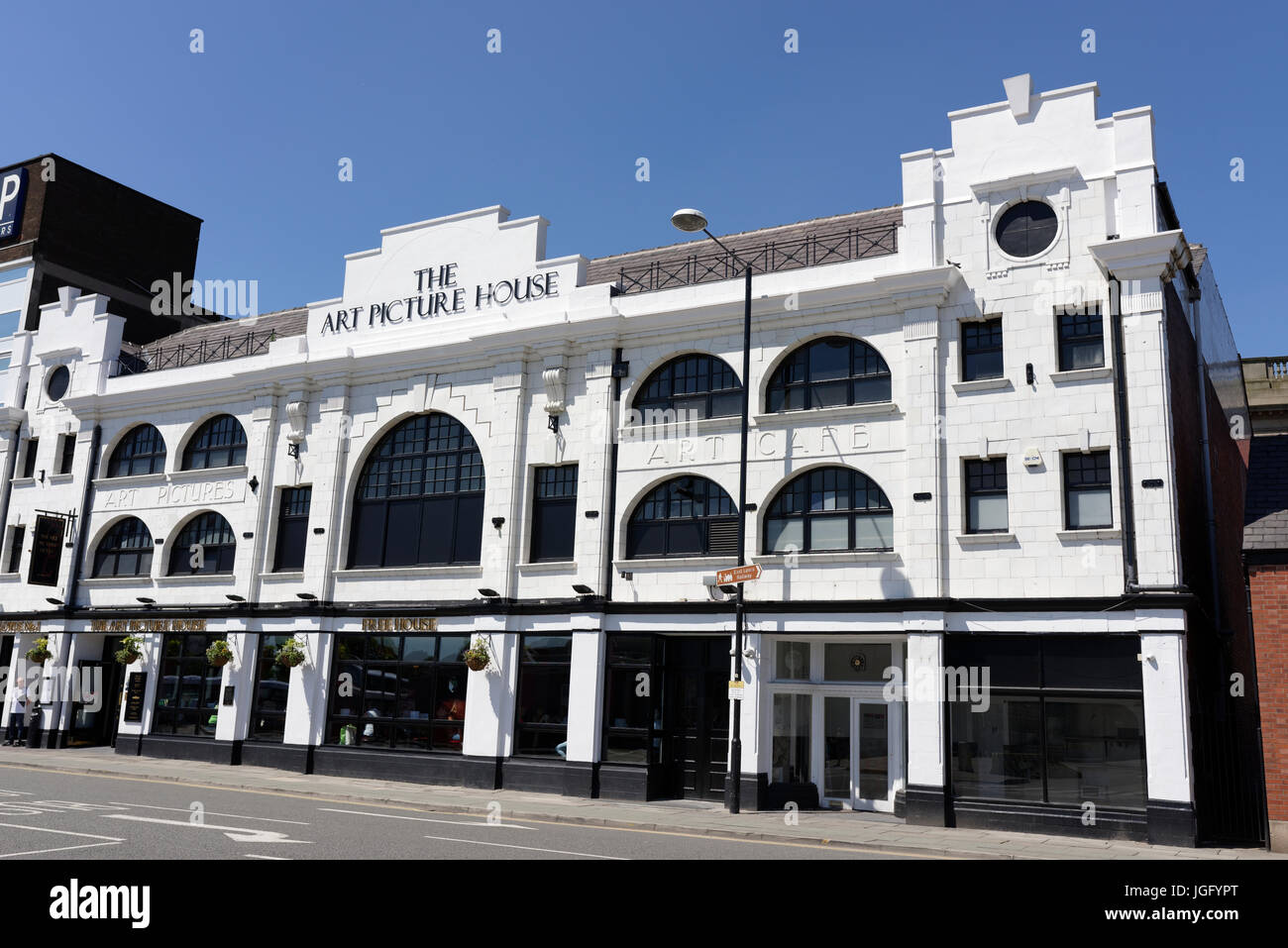 The art picture house bury with nine arched windows in bury lancashire - Stock Image