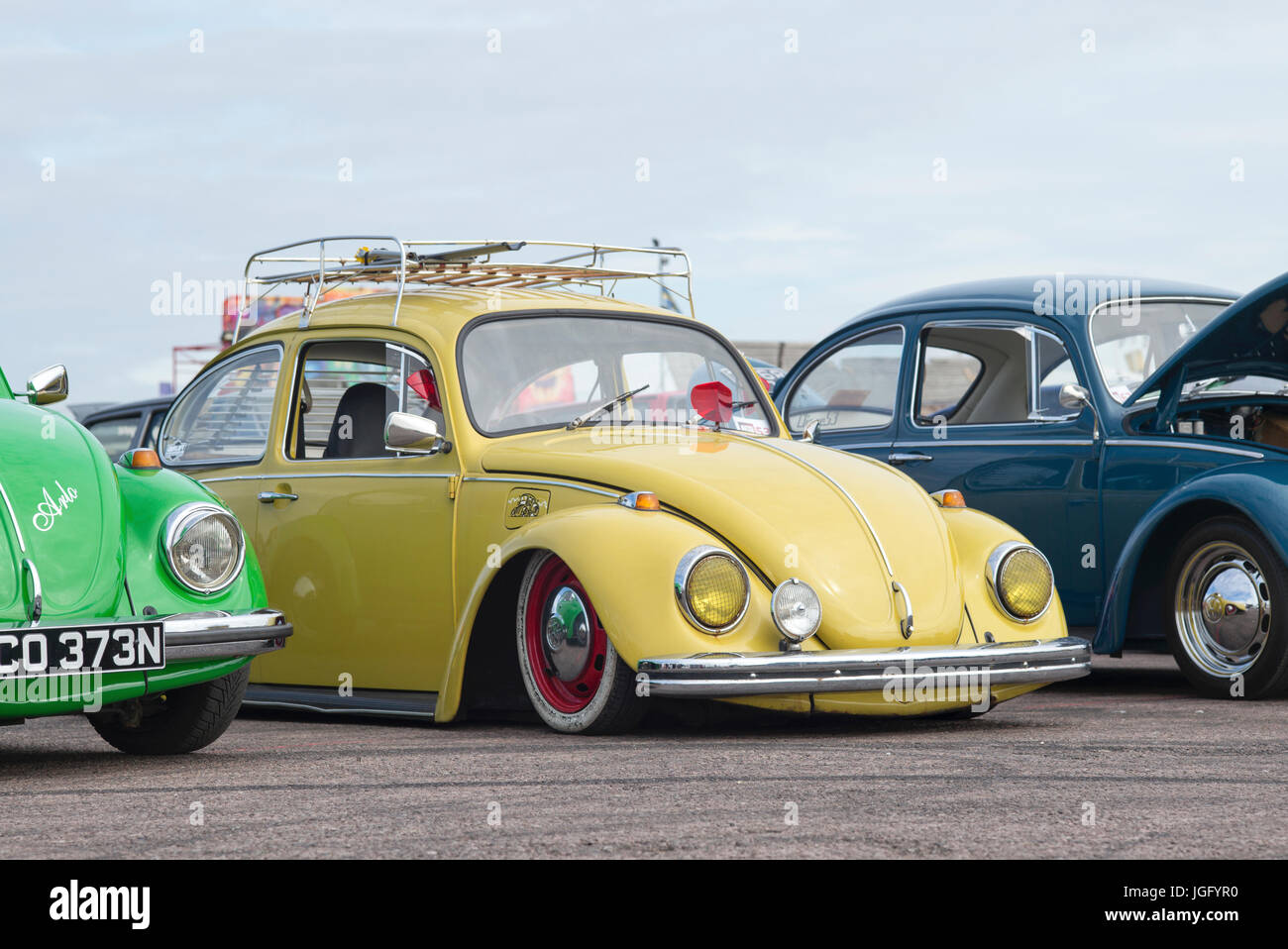 Classic Vw Beetle Cars At A Vw Show Uk Stock Photo