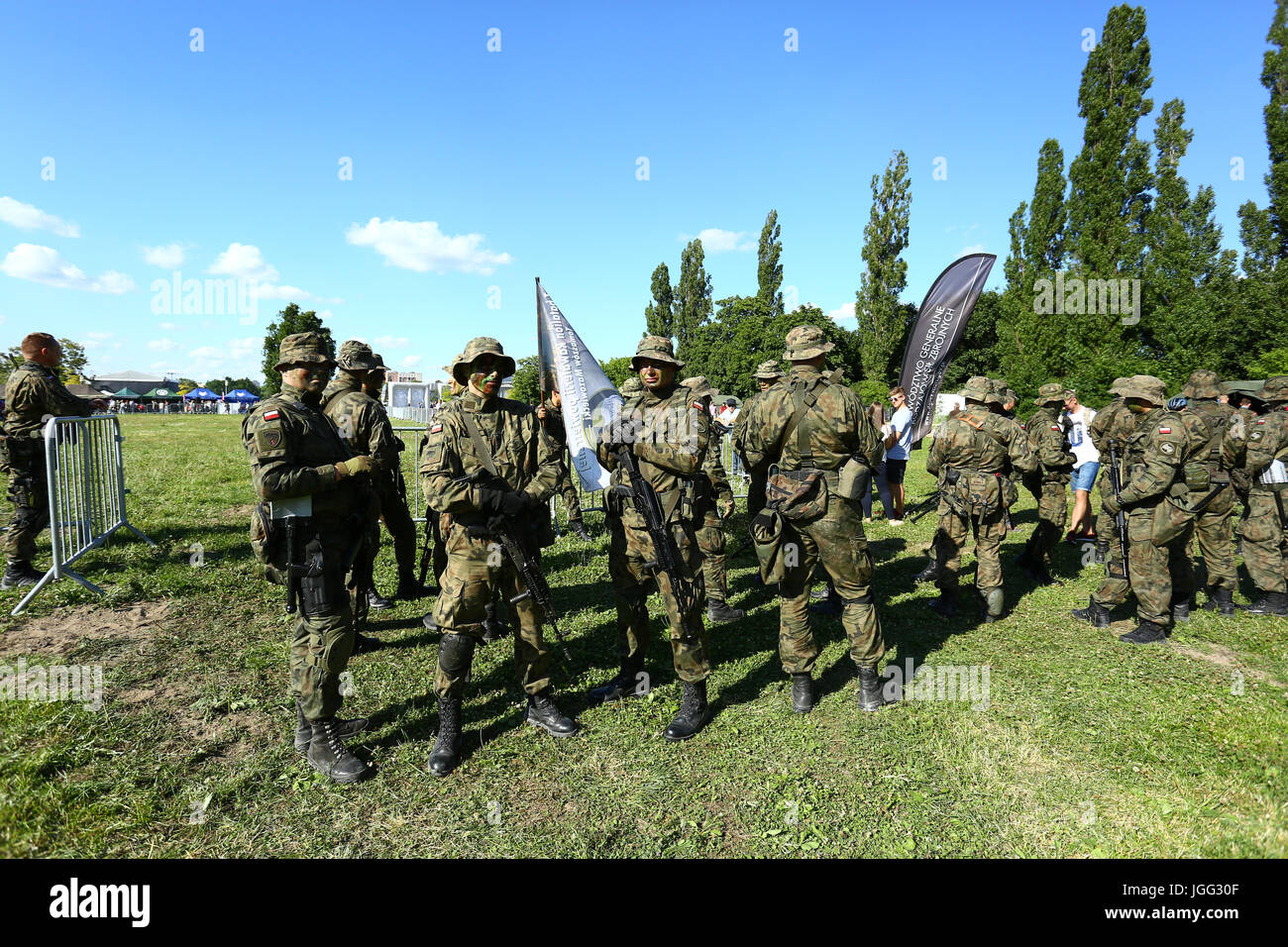 Warsaw Poland 06th July 2017 Ministry Of Defense Holds
