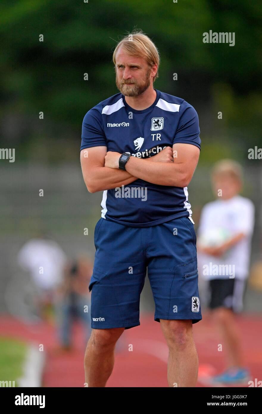 05.07.2017, Fussball Regionalliga Bayern 2017/2018, Saisonvorbereitung, Testspiel SpVgg Landshut - TSV 1860 München, - Stock Image
