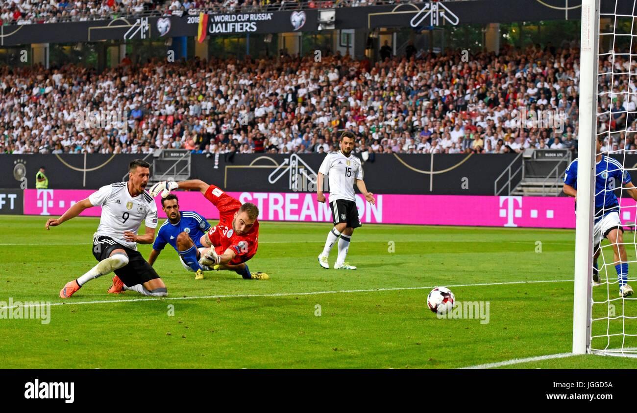 10.06.2017, Fussball Länderspiel WM-Qualifikation, Deutschland - San Marino, im Stadion Nürnberg. Sandro Wagner Stock Photo