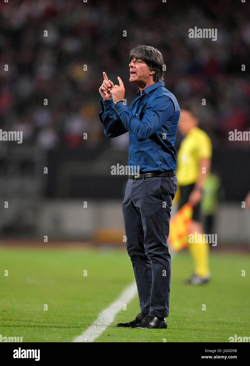 10.06.2017, Fussball Länderspiel WM-Qualifikation, Deutschland - San Marino, im Stadion Nürnberg. Trainer Joachim Stock Photo