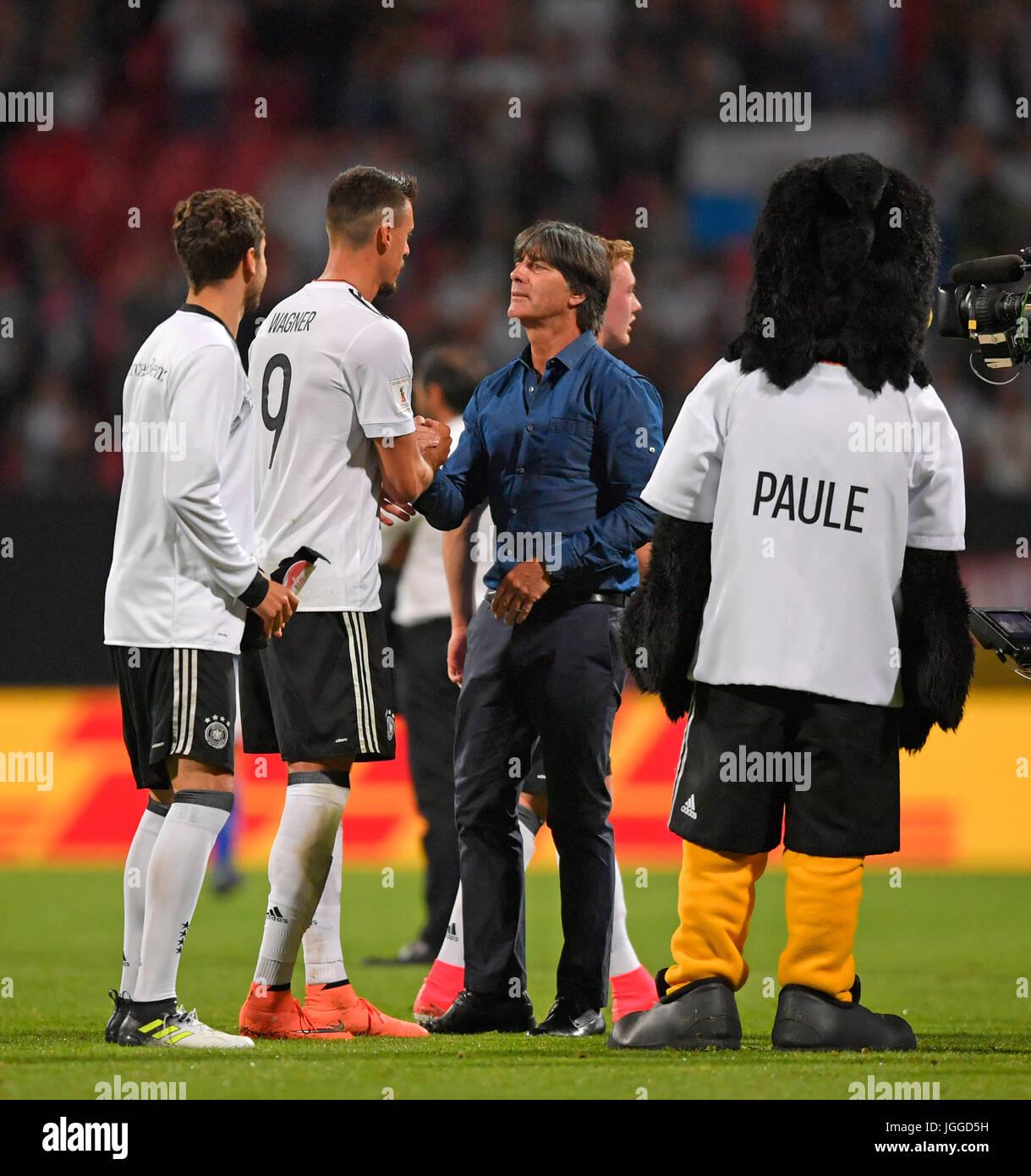 10.06.2017, Fussball Länderspiel WM-Qualifikation, Deutschland - San Marino, im Stadion Nürnberg. Nach dem Spiel, Stock Photo
