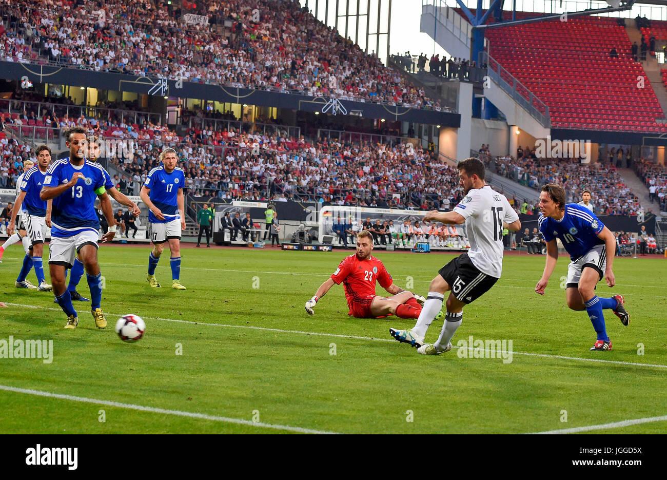 10.06.2017, Fussball Länderspiel WM-Qualifikation, Deutschland - San Marino, im Stadion Nürnberg. Amin Younes (Deutschland) Stock Photo