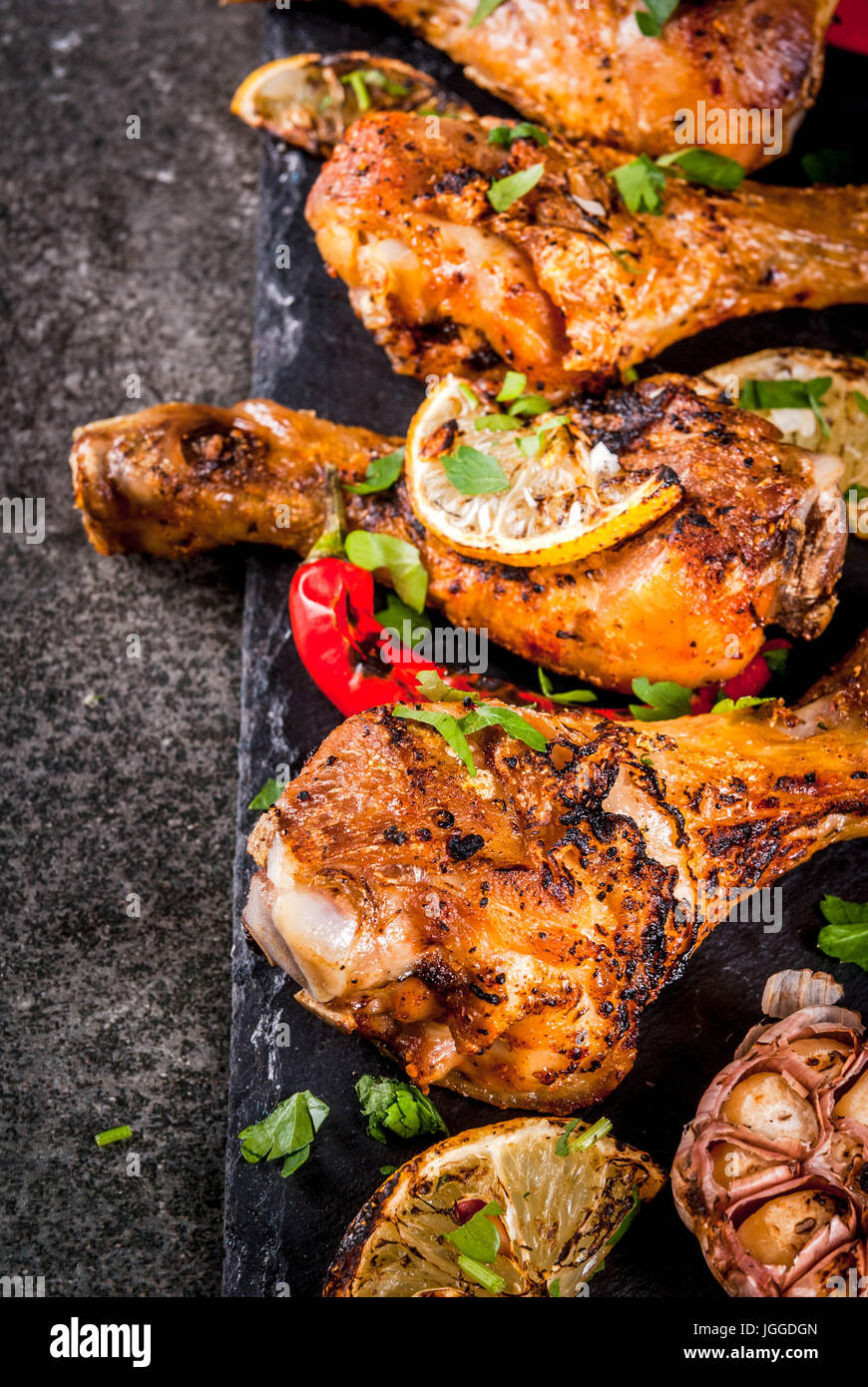 Summer Food Ideas For Barbecue Grill Party Chicken Legs Wings