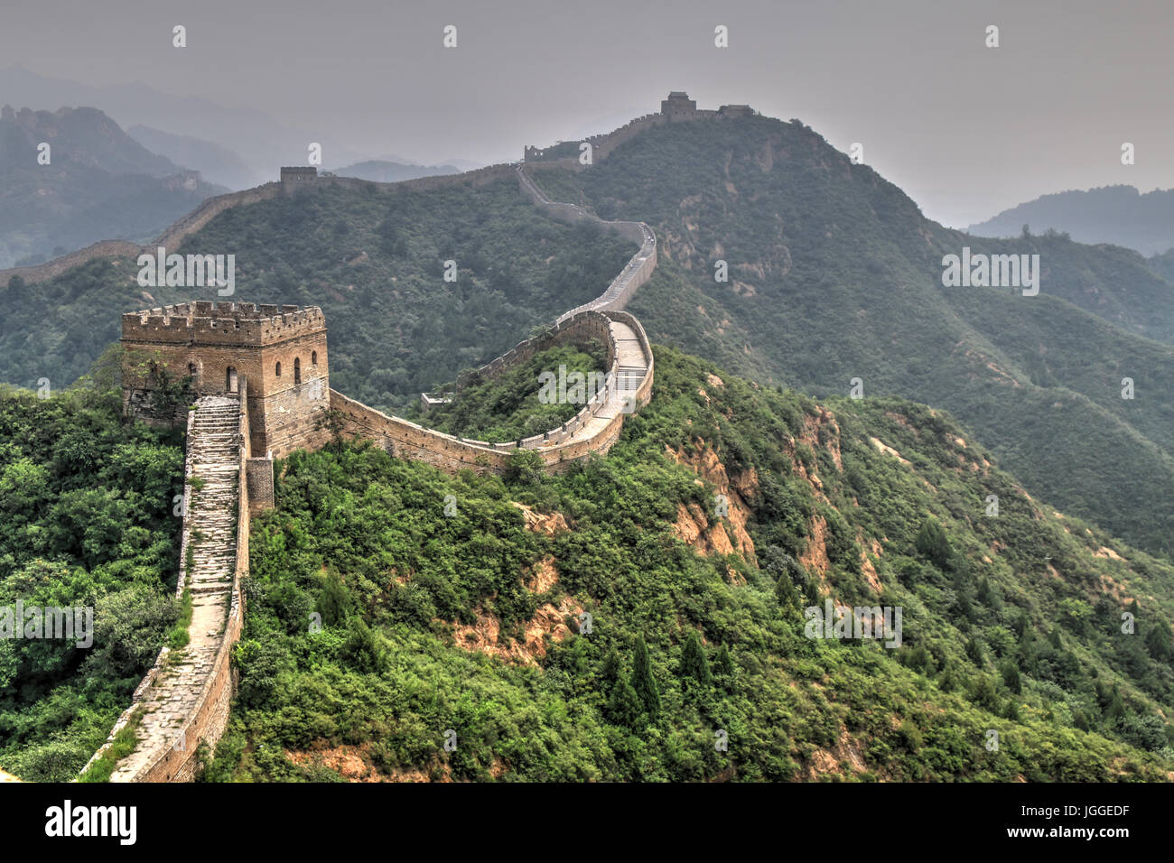 Great wall of china Jinshanling - Stock Image
