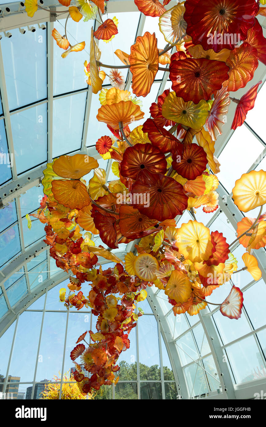 Chihuly Garden and Glass, Seattle Center, Washginton State - Stock Image