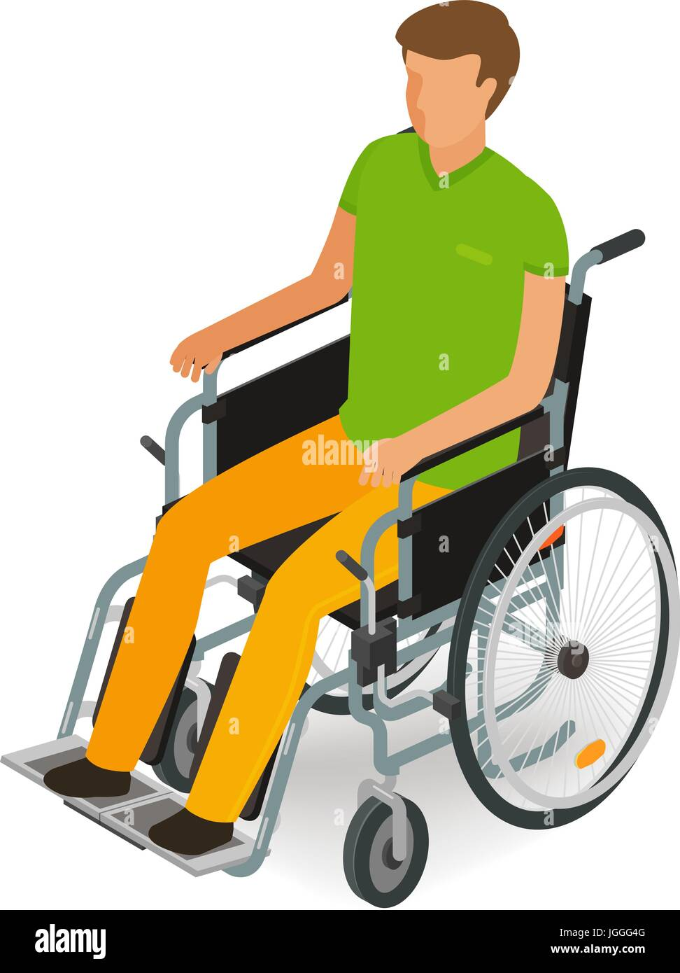 Wheelchair user, disabled, handicapped people icon or symbol Stock Vector Art & Illustration ...