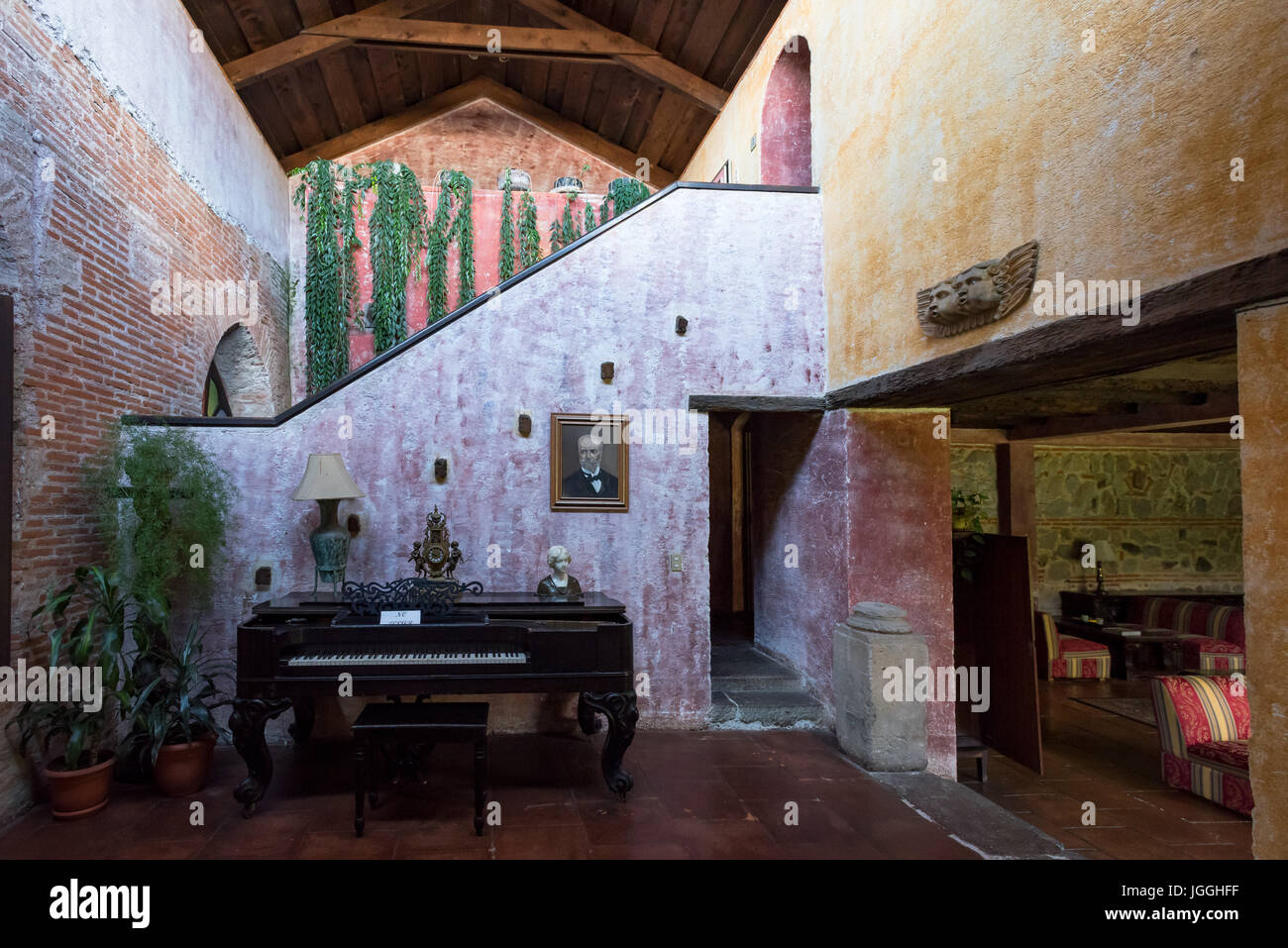 Architecture Of Colonial Period, Furniture Inside A House Of Antigua,  Guatemala