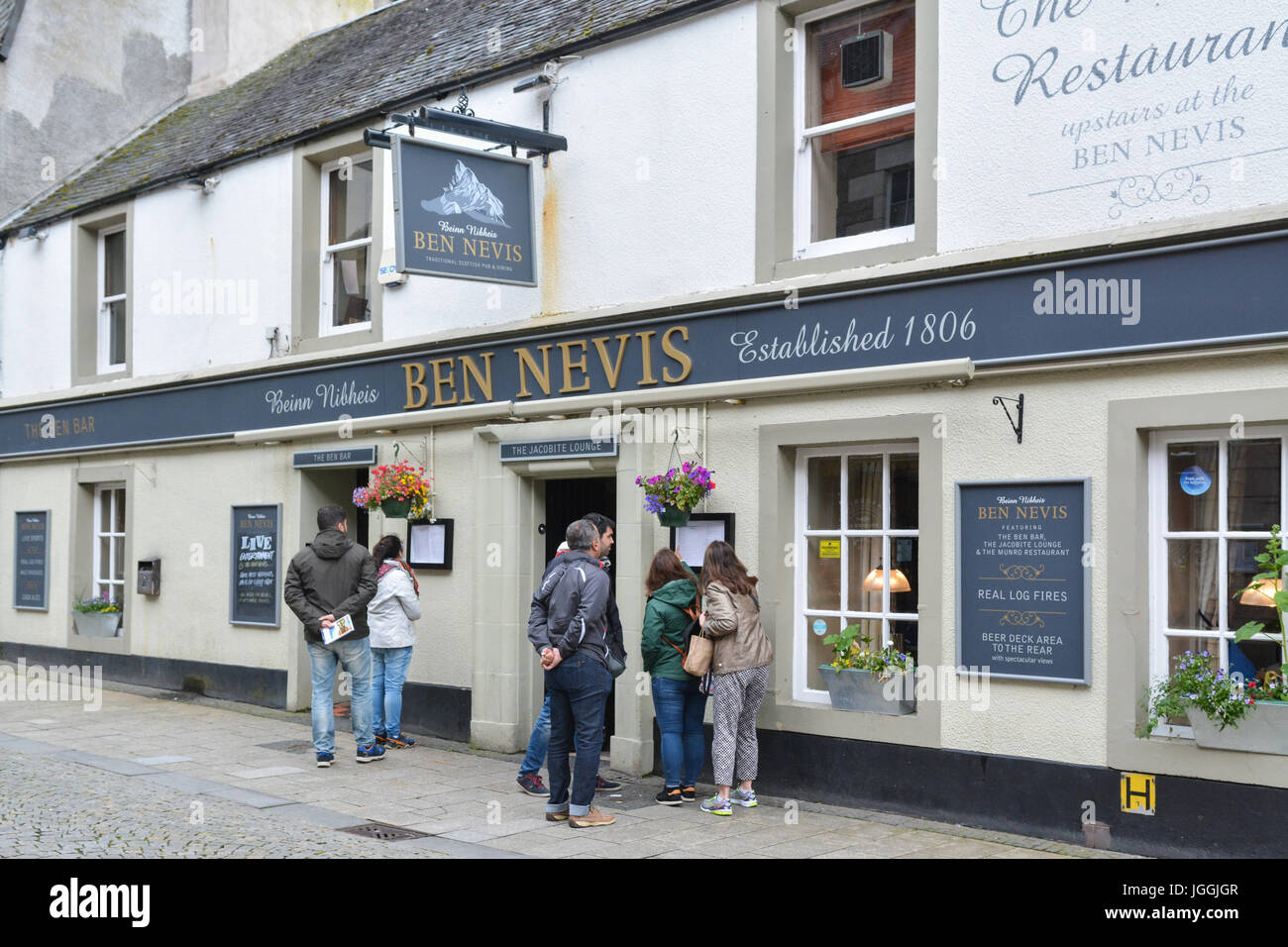 Scottish pub and restaurant - The Ben Nevis Bar part of the Do Drop Inns chain - Fort William, highland, Scotland, - Stock Image