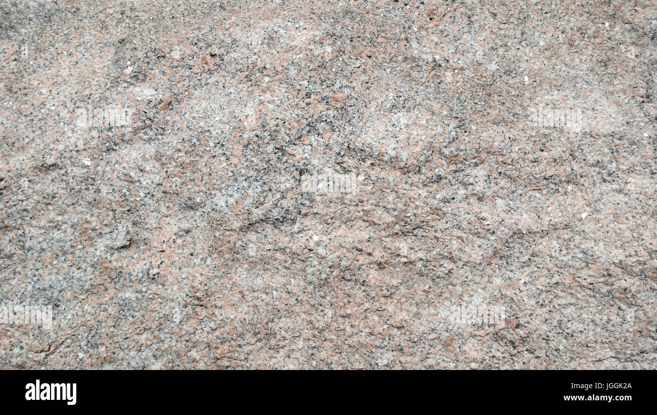 granite rock surface rough cut Stock Photo