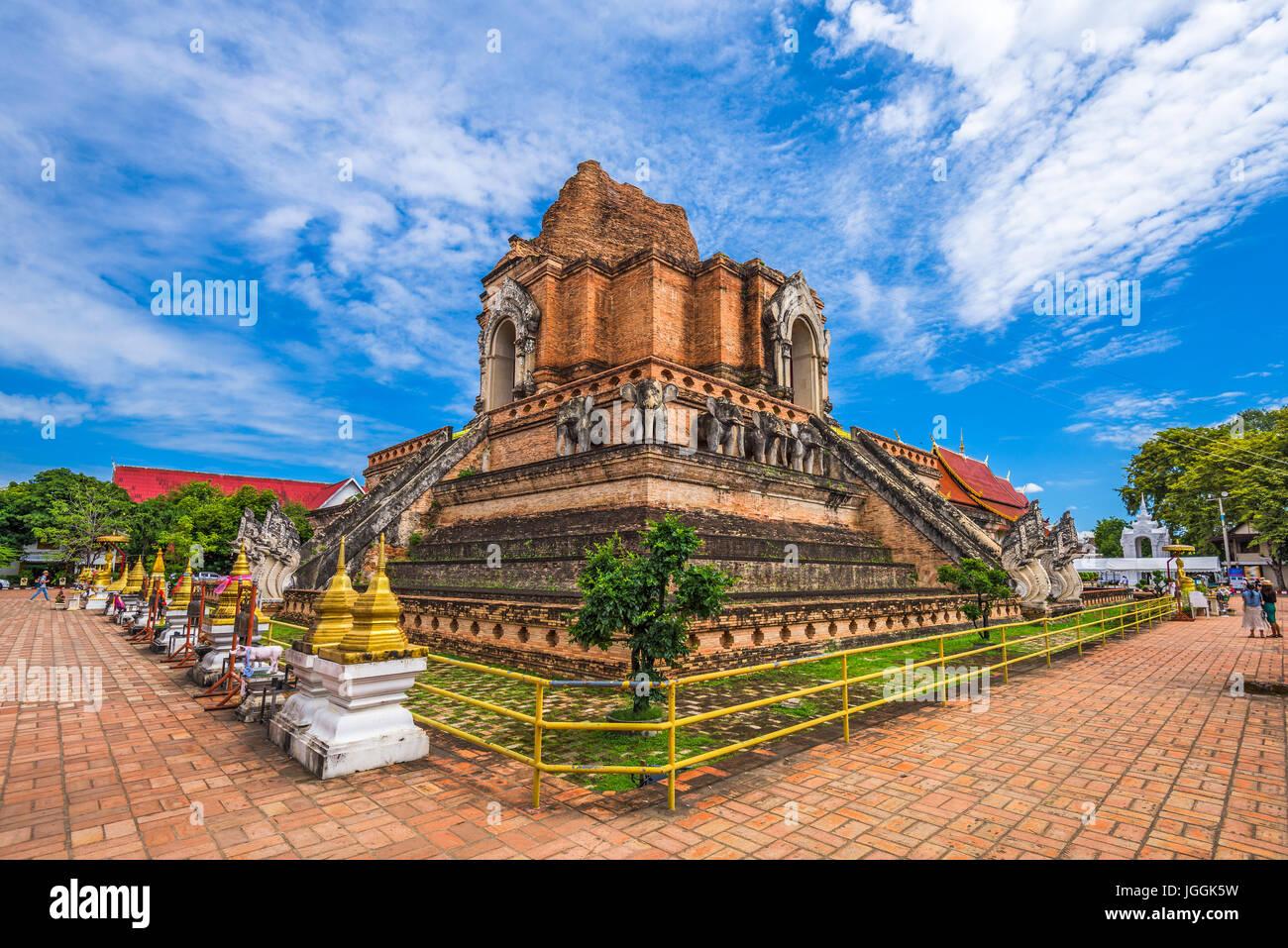 Chiang Mai, Thailand at Wat Chedi Laung. - Stock Image