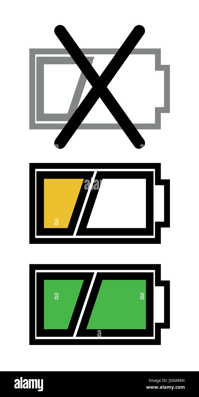 Battery charge icon set - Stock Vector