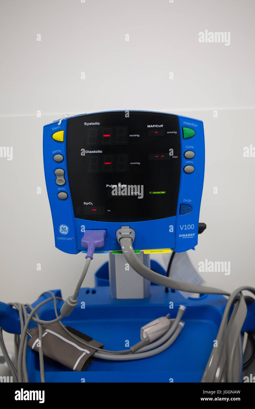 Blood pressure monitor. - Stock Image