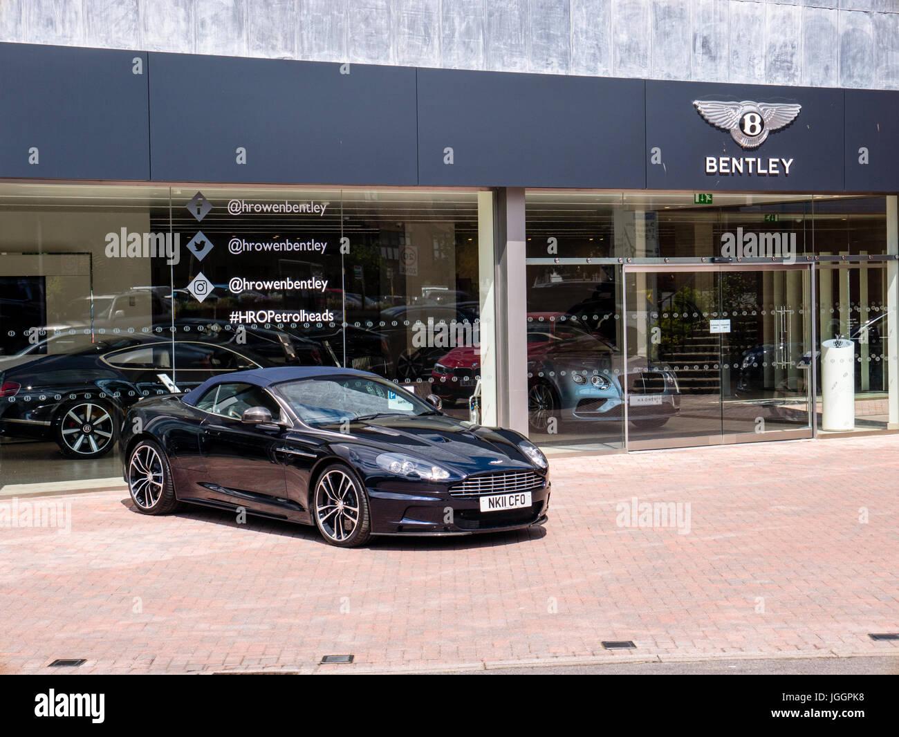 Luxury Car Dealership Dealing With Bentley Aston Martin Stock Photo Alamy