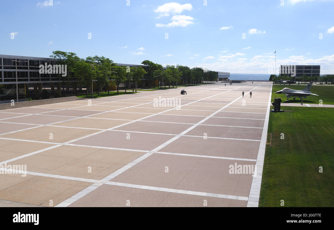 Parade grounds at the United States Air Force Academy, Colorado Springs, Colorado, USA - Stock Image